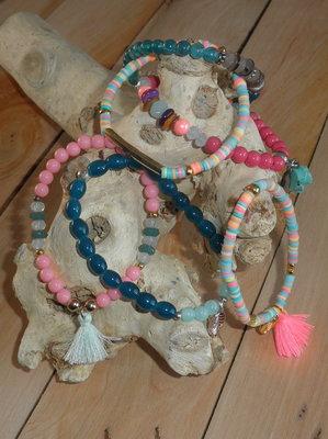 Set van 3 ibiza armbandjes