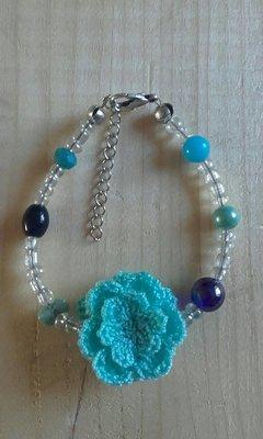 Armband blauw wit