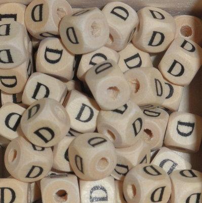 Houten letterkraal D