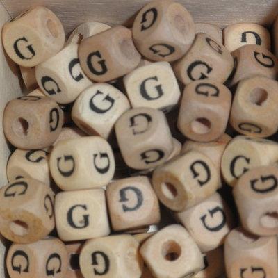 Houten letterkraal G