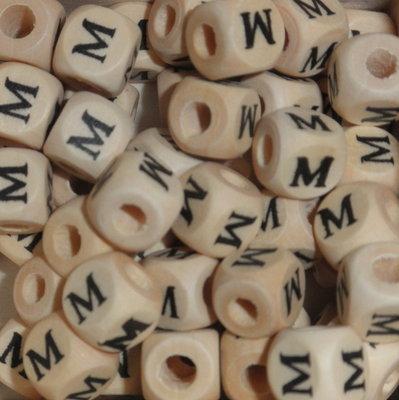 Houten letterkraal M
