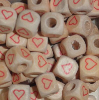 Houten letterkraal hart