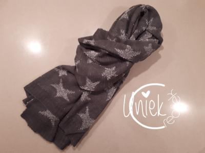 Sjaal sterren grijs