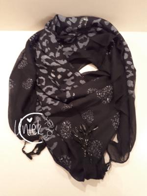 Sjaal luipaard zwart